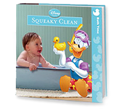 Image of the Disney Baby Squeaky Clean phthalate-free bath book.