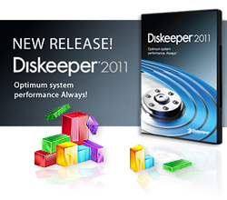 Image of the Diskeeper 2011 Professional with HyperFast DVD package.