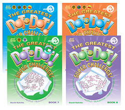 Image of four of The Greatest Dot To Dot Super Challenge, Books 4-8